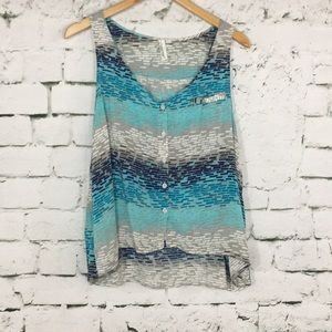Tops - High low button up tank top